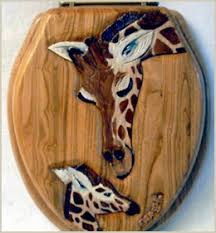 themed toilet seats cool giraffes toilet seat for log cabins log homes and themed