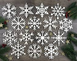 wooden snowflake etsy