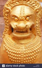 gold lion statue gold lion statue in thailand stock photo 41342097 alamy