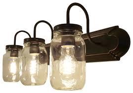 clear quart mason jar vanity farmhouse bathroom vanity