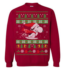 snoopy christmas sweatshirt snow sled saucer snoopy christmas sweater the wholesale t