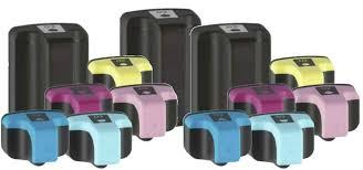 hp 70 light magenta hp 02 high yield ink cartridge 13pk 3 black 2 cyan 2 magenta 2