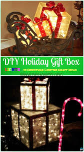 10 unique diy outdoor christmas lighting craft ideas crafts diy