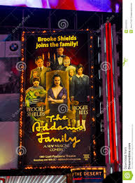 the addams family billboard times sq nyc editorial stock photo