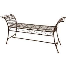 White Metal Outdoor Bench 65 Outdoor Garden Benches