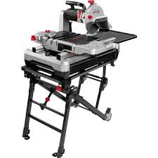 sliding table tile saw beast10kit lackmond 10 tile saw with universal scissor stand