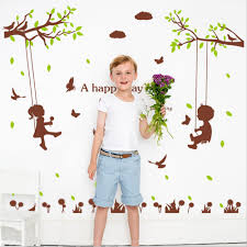 compare prices wall sticker tree baby girl room decor online boy girl swing english letters trees bird wall sticker decal home paper art picture diy murals
