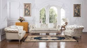 Faux Leather Paint - 2 pcs cream faux leather sofa set w wooden legs w a metallic