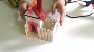 how to make a popsicle stick house for kids youtube