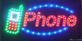 shop open sign lights led phone shop open sign direct selling custom graphics 10x19 inch