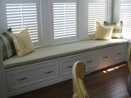 white wood bay window bench seat feat somme drawer and grey