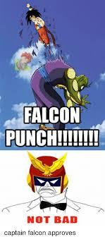 Falcon Punch Meme - falcon punch not bad captain falcon approves meme on me me