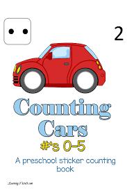 free preschool counting cars printables free homeschool deals