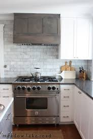 Backsplash For White Kitchens A Mid Century House Design Project White Shaker Cabinets Marble