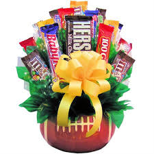 candy gift basket sports gift basket football candy gift