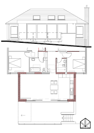 Suburban House Floor Plan by Marcin Piotrowicz Architect U2013 Wp024 Extension To Detached House