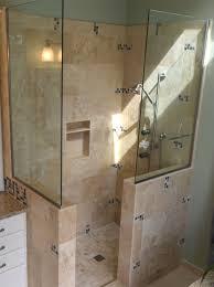 rustic walk in shower designs doorless shower designs showers