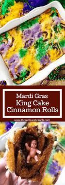king cake for mardi gras mardi gras king cake cinnamon rolls three olives branch