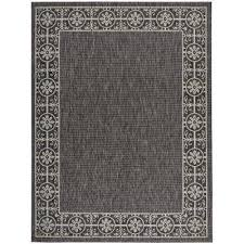 Black And White Outdoor Rug Black Outdoor Rugs Rugs The Home Depot