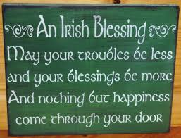 irish blessings primitive wood signs plaques celtic ireland