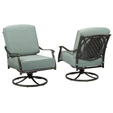 Hampton Bay Patio Furniture Touch Up Paint by Hampton Bay Belcourt Swivel Rocking Metal Outdoor Lounge Chair