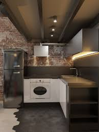 kitchen decorating faux brick interior wall covering brick
