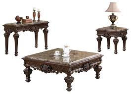 Coffee Table Set Traditional Living Room Table Set 3 Piece Set Victorian