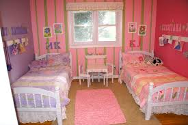 girls pink and purple bedding girls u0027 shared bedroom flower theme the kid friendly home