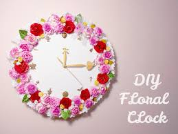 how to make room decorations floral clock diy room decoration idea