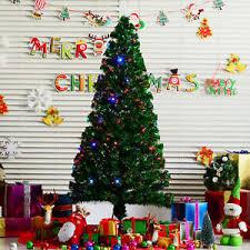 6ft christmas tree 6ft pre lit fiber optic artificial christmas tree multi color led