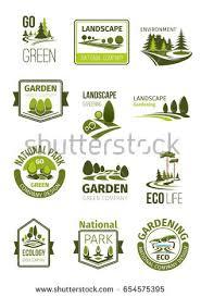 design logo go green garden green landscape design company icons stock vector hd royalty