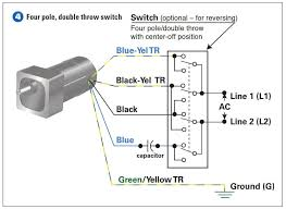 4 wire ac motor wiring diagram how to connect a reversing switch to