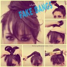 how to fake bangs cute easy bun hairstyles hair tutorial video