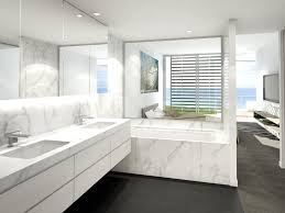 white marble bathroom ideas modern bathroom design recessed bath marble tierra este 12303