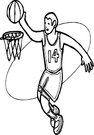 basketball halloween basket basket and man playing basketball coloring page wecoloringpage