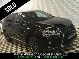 cvt lexus used lexus rx 450h 3 5 f sport 5dr cvt auto 1 owner for sale in