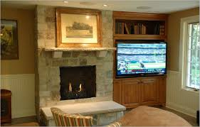 living room design with stone fireplace and luxury furniture set