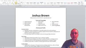 Resume Youtube How To Build A Functional Resume Youtube