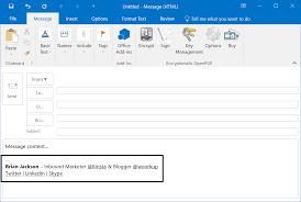 skype email signature how to create