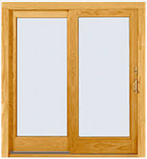 Patio Doors Wooden Sliding Patio Door Wooden Glazed A Andersen