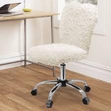 faux fur desk chair faux fur desk chairs you ll love wayfair