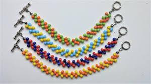 easy beaded bracelet images Easy beaded beginners pattern diy colorful bracelets jpg