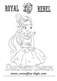 swan coloring pages to print free princess page lake bella swan