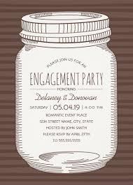 Engagement Invitations Card Vintage Mason Jar Engagement Party Invitations U2013 Unique Rustic