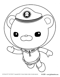 charming beautiful printable octonauts cartoon coloring books