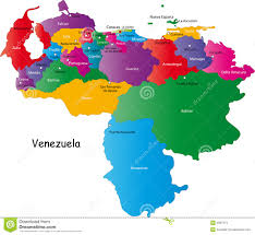 The Americas Map Political Map Of The Americas With Names Stock Vector Image