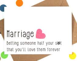 Marriage Card Wedding Card Marriage Advice Card Funny Card Humorous