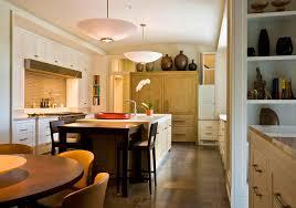 birch wood nutmeg raised door kitchen island with table backsplash