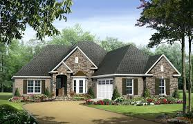 european country style one story plans the house designers