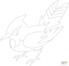 fletchinder coloring page free printable coloring pages